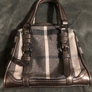 BURBERRY Shimmer check purse small